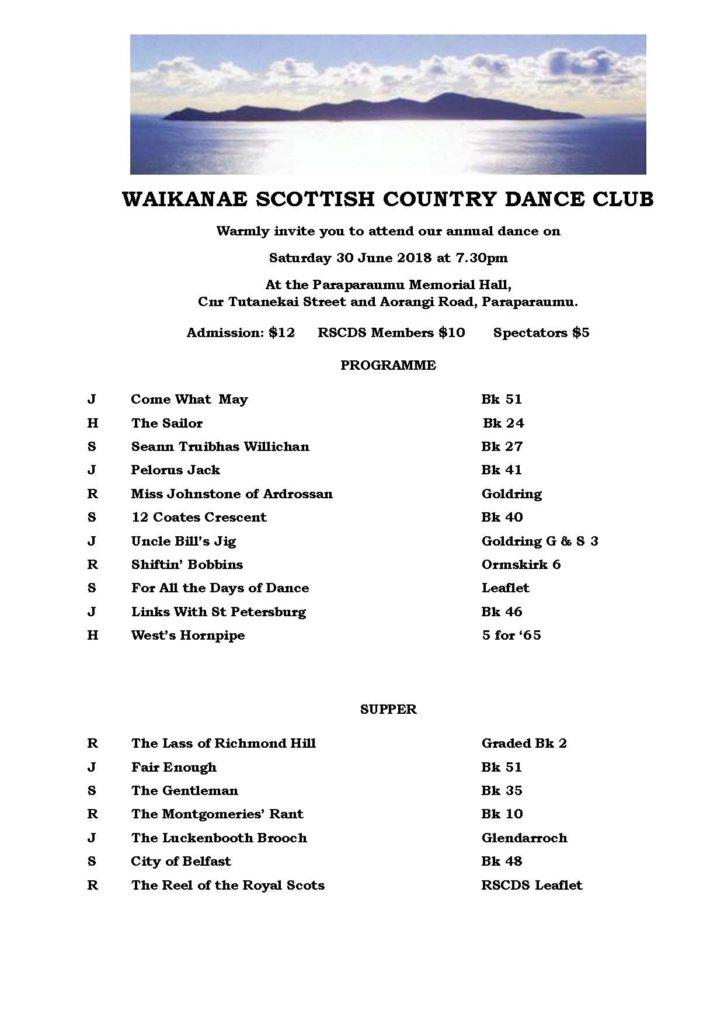 Waikanae Annual Dance @ Paraparaumu Memorial Hall | Paraparaumu | Wellington | New Zealand