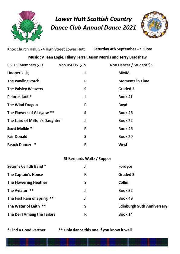 CANCELLED - Lower Hutt Annual Dance 2021 @ Knox-St Columba Church Hall | Lower Hutt | Wellington | New Zealand