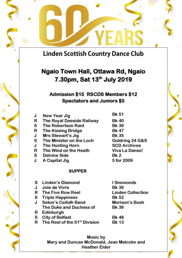 Linden 60th Anniversary Dance @ Ngaio Town Hall | Wellington | Wellington | New Zealand