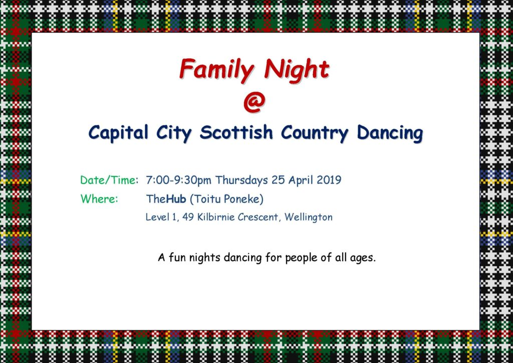 Capital City SCD Family Night @ TheHub (Toitu Poneke) | Wellington | Wellington | New Zealand