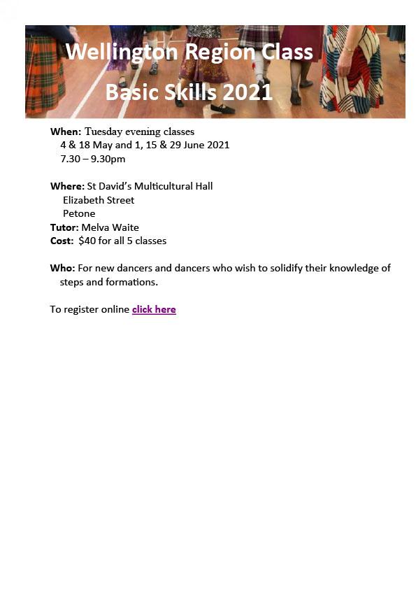 Region Basic Skills Class @ St David's Multicultural Hall | Lower Hutt | Wellington | New Zealand